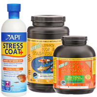 Stress Coat, Microbe-Lift Goldfish & Koi Food